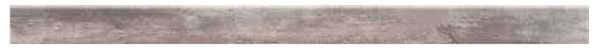 Sockel Holzoptik Farbe Nuss 118 x 8 cm Keramik / Feinsteinzeug