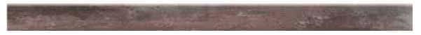 Sockel Holzoptik Teak 118 x 8 cm Keramik / Feinsteinzeug