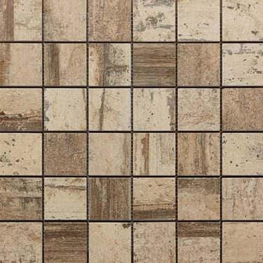 Mosaikfliese Holzdesign Mosaik 30 x 30 cm Keramik Farbe: Sand