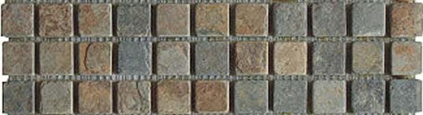 Mosaik Multicolor dark 2,3 x 2,3 x 1 cm Naturstein Muster