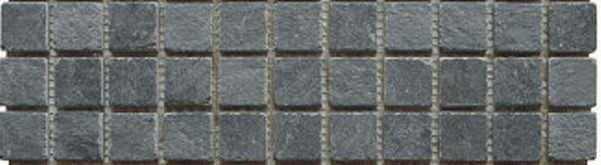 Mosaik schwarz anthrazit 2,3 x 2,3 x 1 cm Naturstein Muster