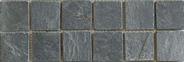 Mosaik schwarz anthrazit 4,5 x 4,5 x 1 cm Naturstein Muster
