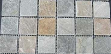 Mosaik Multicolor light 4,5 x 4,5 x 1 cm Naturstein Muster