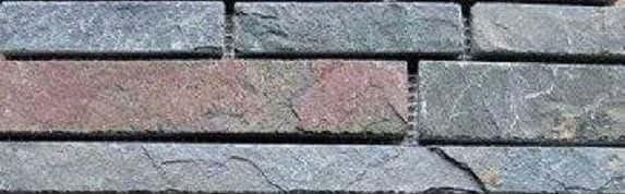 Riemchen Mosaik Buntschiefer multicolor dunkel Naturstein Muster MC-1830