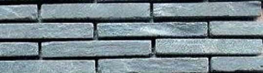 Mosaik Riemchen schwarz-anthrazit Naturstein Muster