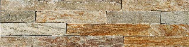 Naturstein Riemchen / Verblender braun beige Naturstein Muster Wandverblender