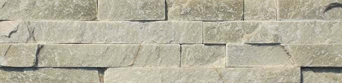 Naturstein Riemchen / Verblender creme beige hell Naturstein Muster Wandverblender