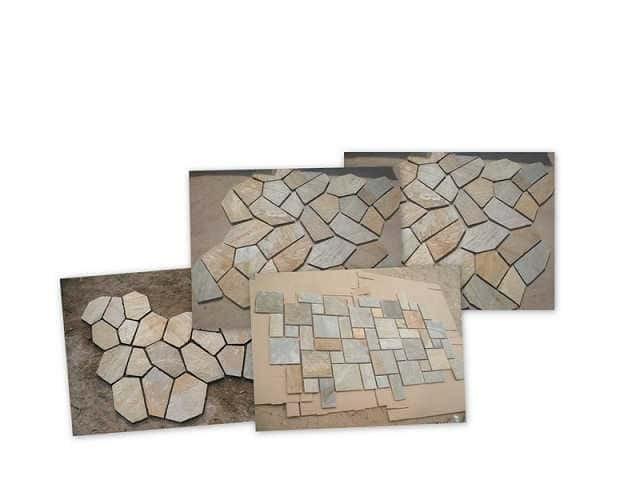 Naturstein Muster 30 x 15 cm