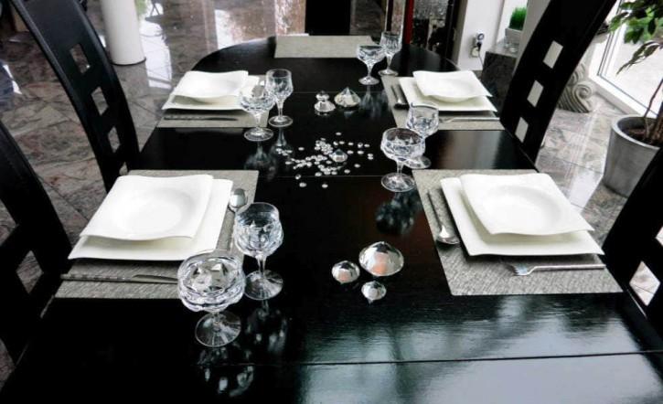 Platzset aus Schieferfurnier Naturstein Tischset 40 x 30 cm Schiefer Stein Set