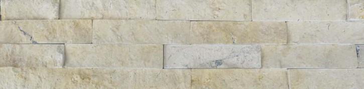 Naturstein Riemchen Verblender creme-beige dunkel, Typ Travertin Wandverblender