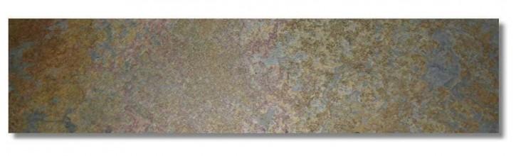 Indischer Schiefer Buntschiefer Sockel 6 x 1,2 cm kalibriert, Oberfläche spaltrau