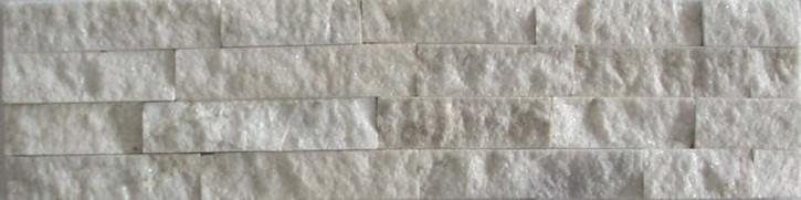 Naturstein Riemchen / Verblender weiß Naturstein Muster Wandverblender
