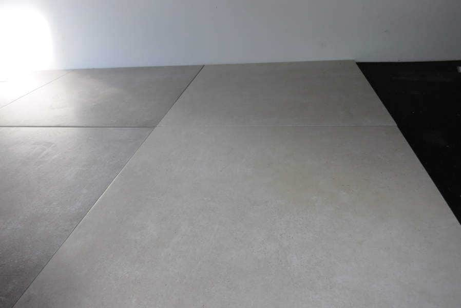 betonoptik fliesen in beige 61 5 x 61 5 keramik feinsteinzeug beton innen. Black Bedroom Furniture Sets. Home Design Ideas