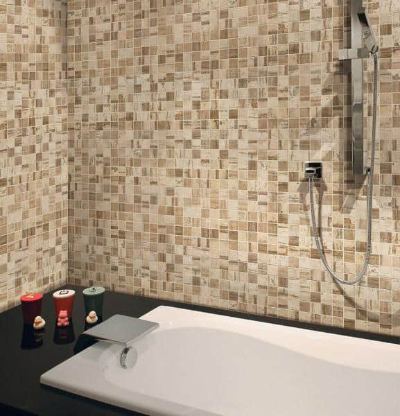mosaikfliese holzdesign mosaik fliese 30 x 30 cm keramik fliese farbe sand. Black Bedroom Furniture Sets. Home Design Ideas