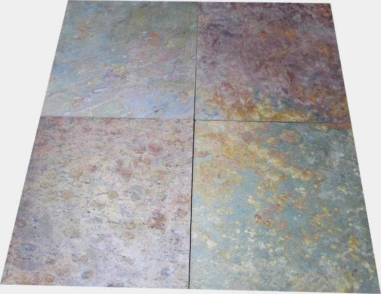 Schieferfliesen Indischer Schiefer 60 X 60 X 1,5 Cm, Oberfläche Spaltrau