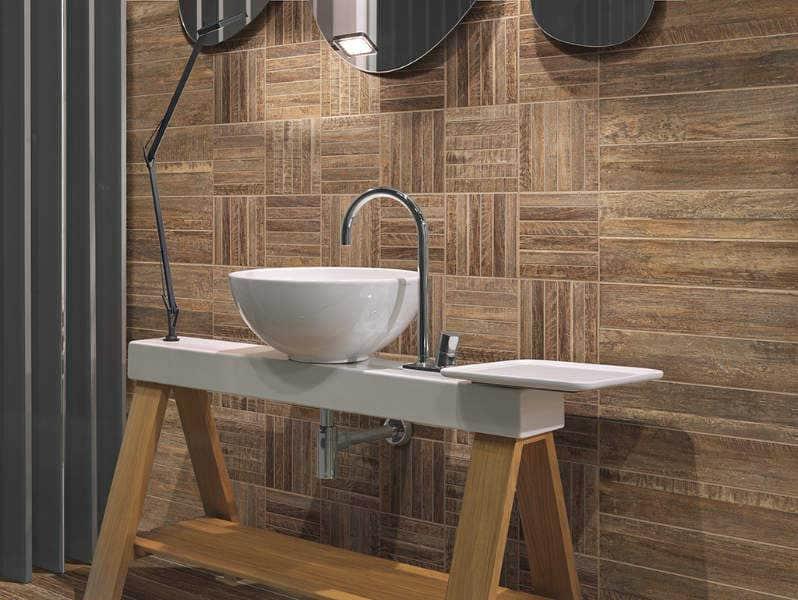 riemchen mosaik stabmosaik holzdesign 20 x 20 cm keramik farbe braun. Black Bedroom Furniture Sets. Home Design Ideas