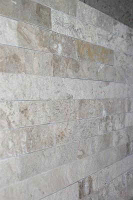 Naturstein Riemchen Verblender creme-beige dunkel, Typ Travertin