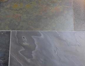 Indischer Schiefer Buntschiefer 60 x 30 x 1,1 - 1,3 cm kalibriert, Oberfläche GESCHLIFFEN