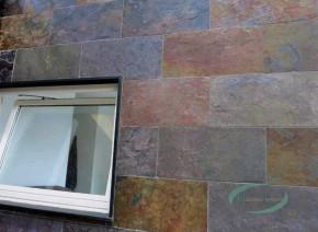 Indischer Schiefer Buntschiefer 60 x 30 x 1,1 - 1,3 cm kalibriert, Oberfläche spaltrau