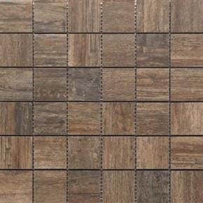 Mosaik-Fliese Holzdesign Mosaik 30 x 30 cm Keramik Farbe: Braun