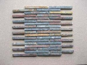 Mosaik - Riemchen Buntschiefer multicolor dunkel 1833