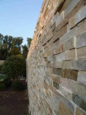 """Naturstein Riemchen / Verblender braun - beige Mauerverblender, <br class=""""ansicht"""" />Wandverblender S-0504D"""