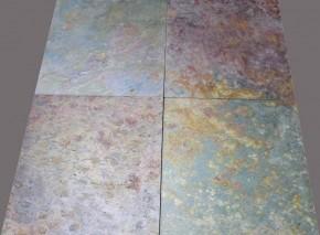 Indischer Schiefer Fliesen 60 x 60 x 1,5 cm, spaltraue Oberfläche