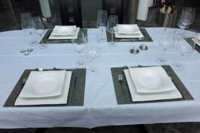 """Schiefer Platzset Tischset rechteckig 40 x 30 cm Schiefer-Furnier <br class=""""ansicht"""" /> -- Silver Shine --"""