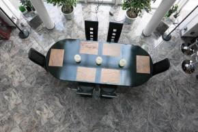 Schiefer Tischsets Platzsets aus Echtstein Schiefer-Furnier 40 x 30 cm