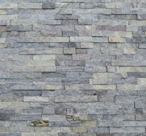 Wandverblender & Riemchen aus silber - grünem Quarzit S-0507L