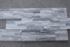 Naturstein Quarzit Riemchen Verblender in grau-weiß