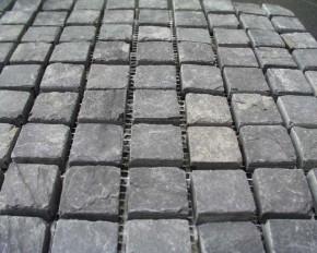 Mosaik schwarz anthrazit 2,3 x 2,3 x 1 cm MC 0679