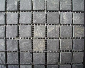 Mosaik schwarz anthrazit 4,5 x 4,5 x 1 cm MC 0674