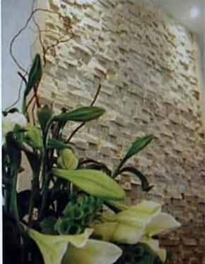 Naturstein Riemchen / Verblender creme - beige hell S-0507E Wandverblender