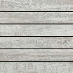 Riemchen-Mosaik, Stabmosaik Fliese Holzdesign 20 x 20 cm Keramik Farbe: Weiß