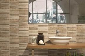 """Riemchen-Mosaik, Stabmosaik Fliese Holzdesign 20 x 20 cm Keramik <br class=""""ansicht"""" />Farbe: Sand"""