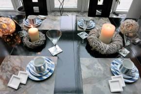 Schiefer Platzsets Tischsets aus Naturstein Schiefer-Furnier 40 x 30 cm