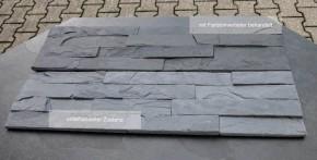 Schiefer Riemchen / Verblender in schwarz - anthrazit